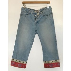VTG LondonJean Light Wash Button High Rise Jeans